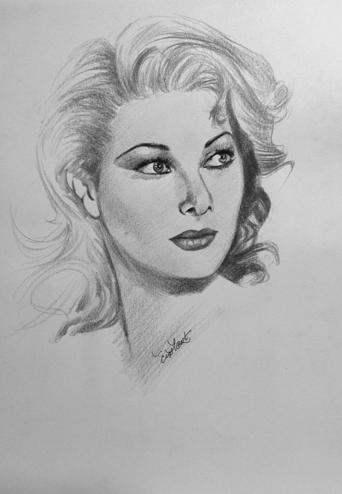 portrait of edwige fenech by cipta on stars portraits 2